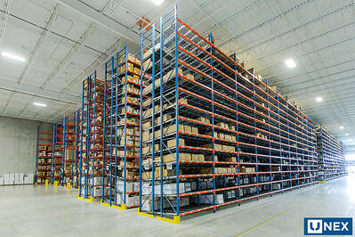 UNEX Span-Track Bed in Warehouse with Vertical Space Utilization