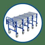 UNEX Gravity Conveyor Flex Wheel Series