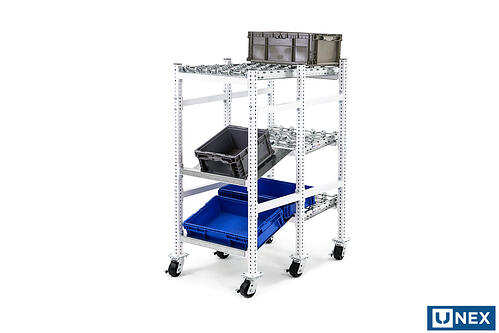 High Density Wheel Bed Flow Cell with Tilted Trays