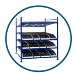 UNEX FlowCell Presentation Rack with SpanTrack Wheel Bed