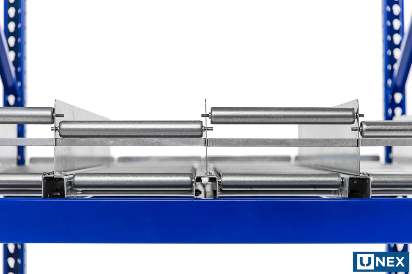 Updated Keg-Flow Keg Storage design close-up.