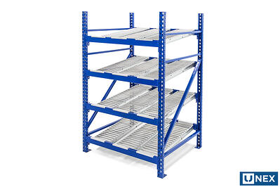 UNEX Roller Rack Carton Flow with Span-Track Lane