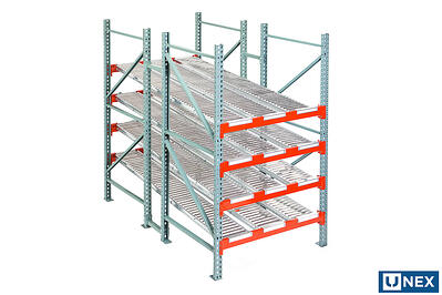 UNEX Span-Track Lane in a Pallet Rack