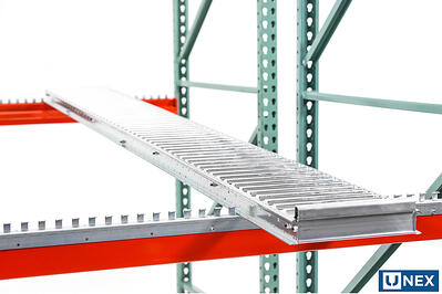 UNEX High Profile Span-Track Lane in a Pallet Rack
